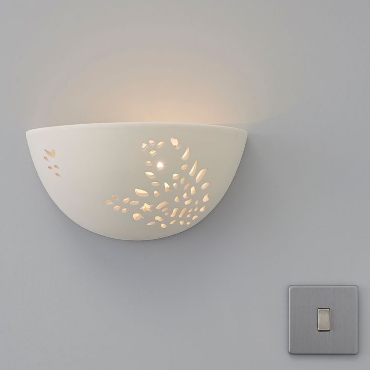 Rosalie Floral Cut Out White Wall Uplighter WallsLiving Room IdeasWall LightsCut OutsDining
