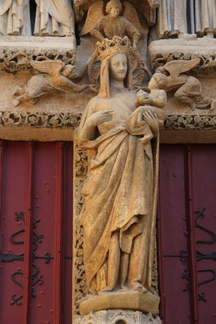 Vierge Doree, czyli złota Madonna z Amiens; poł. transept ...