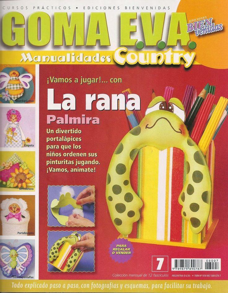 Revistas de manualidades Gratis: Como hacer un portalapices en foamy