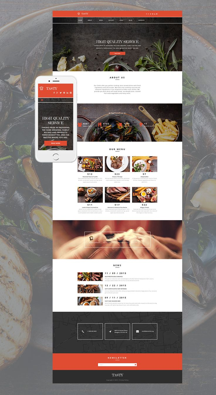 32 best food website templates images on pinterest food website food recipes web design responsivedesign forumfinder Image collections