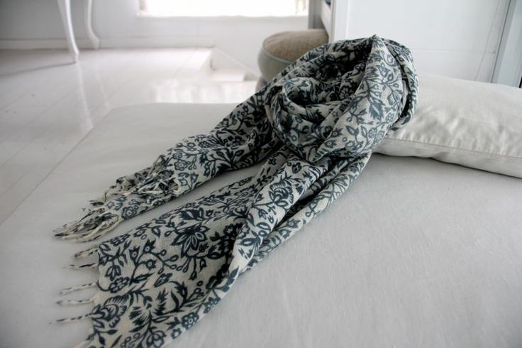 Wool Scarf - Cream/Grey | humidity DESIGN