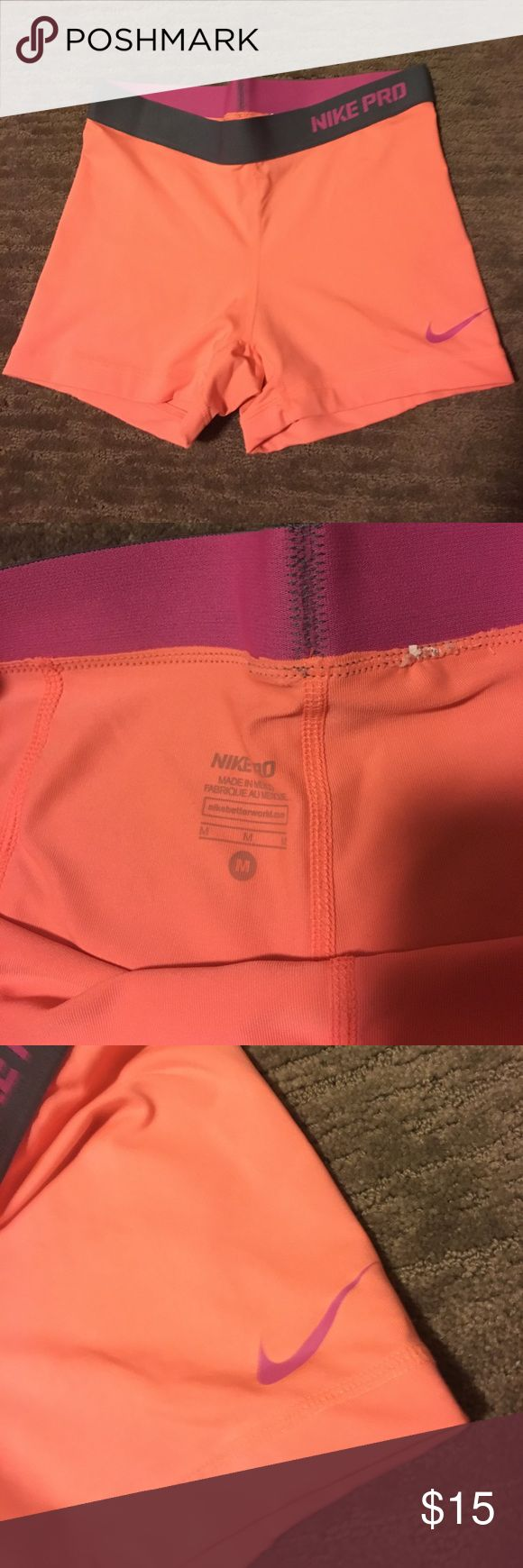 Nike Pro Spandex Peach colored Nike Pro Spandex! Hardly worn! Accepting Offers(: Nike Other