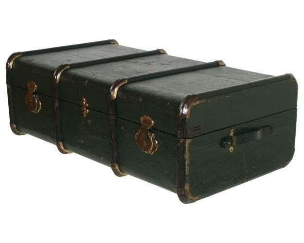 Complementi d'arredo vintage - Baule vintage verde Vintage furnishing accessories - Vintage green trunk