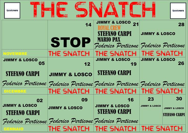 "Calendario eventi ""The Snatch"""