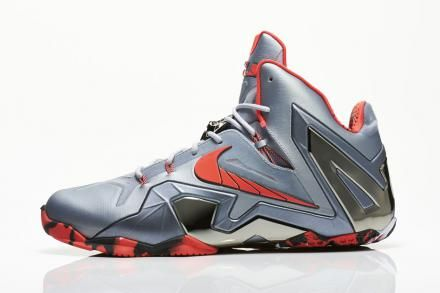 NIKE LEBRON XI ELITE WOLF GREY/LASER CRIMSON-COOL GREY-BLACK #sneaker