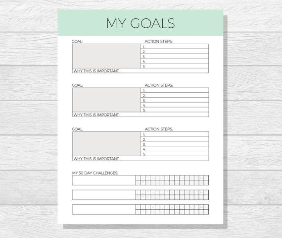 25+ unique Goals template ideas on Pinterest | Goal setting worksheet, 2017 goals printable and ...