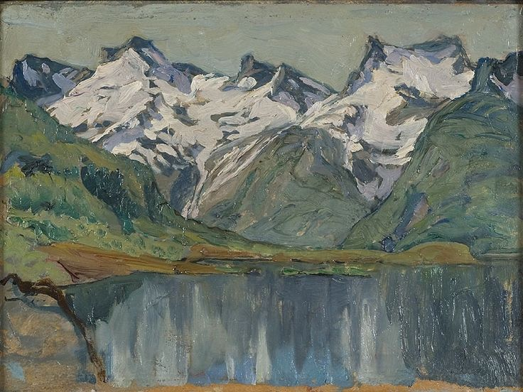 Mountain lake, Nordlandet by Anna Boberg. Nationalmuseum Sweden, CC BY-SA