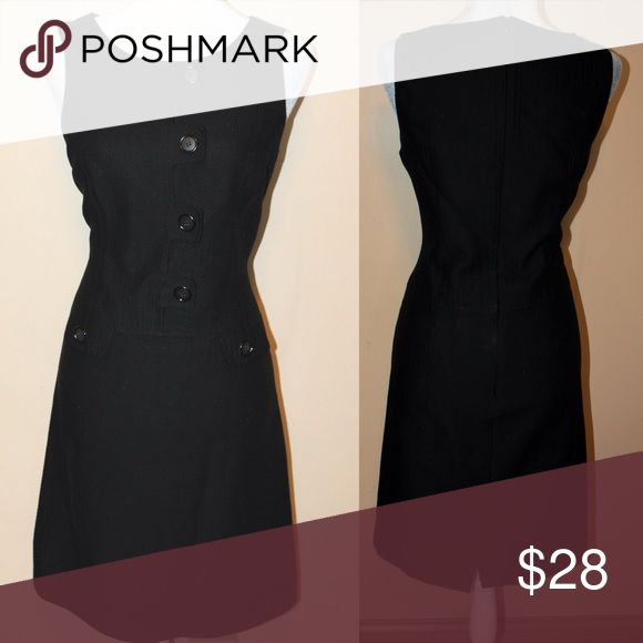 NITRO COUTURE Black career, work dress Black front button detail. Very put together dress great for work or a dinner date Dresses