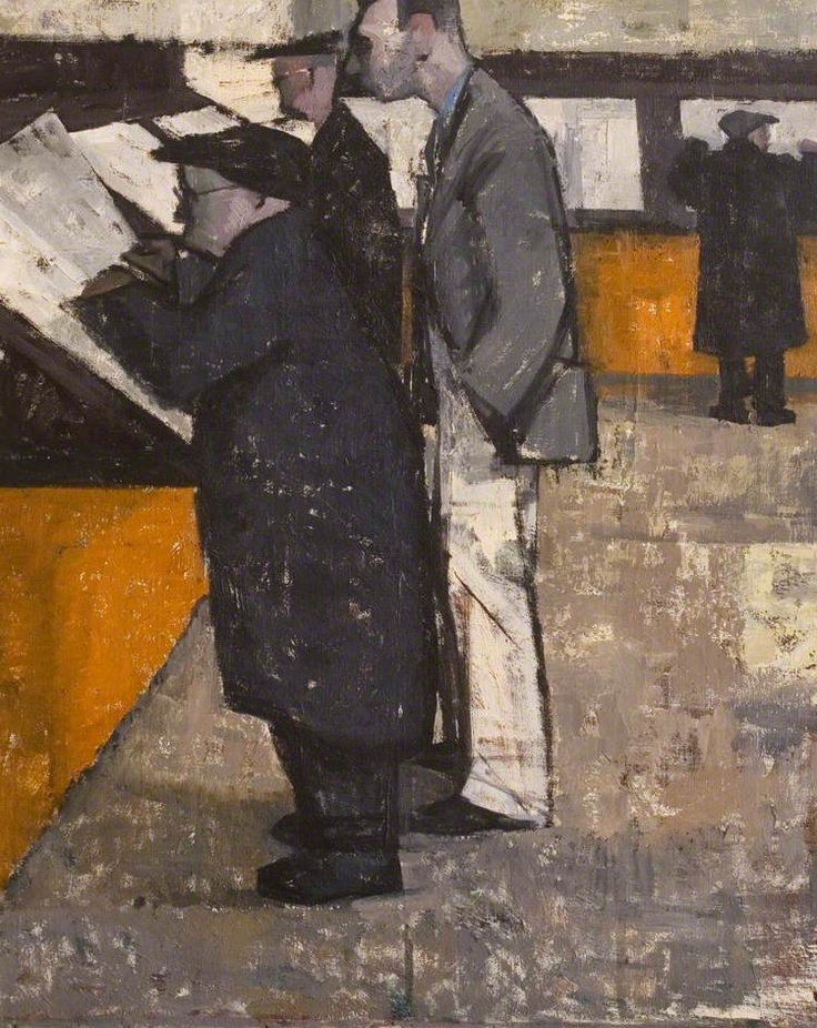 john kenneth long(1924–2006), the reading room, barnsley, south yorkshire, 1956. oil on canvas, 76 x 61 cm. herbert art gallery & museum, uk http://www.bbc.co.uk/arts/yourpaintings/paintings/the-reading-room-barnsley-south-yorkshire-55085