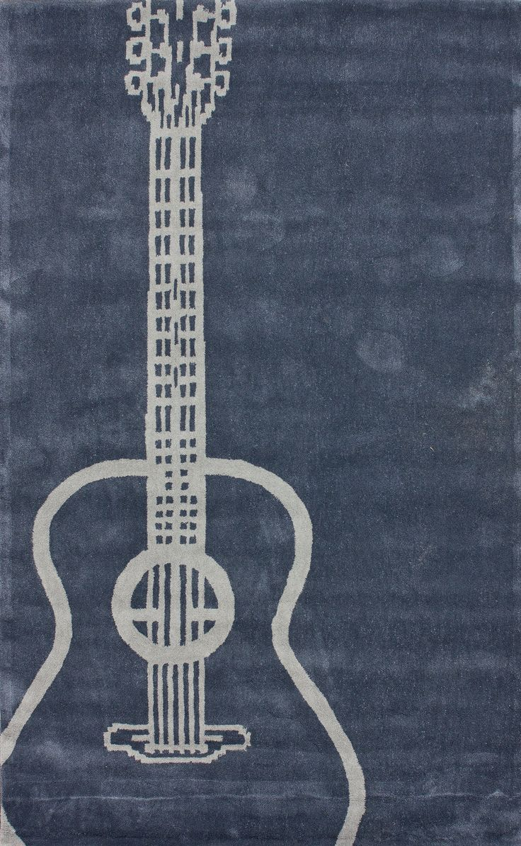 Bracewell Gray Guitar Novelty Outdoor Area Rug