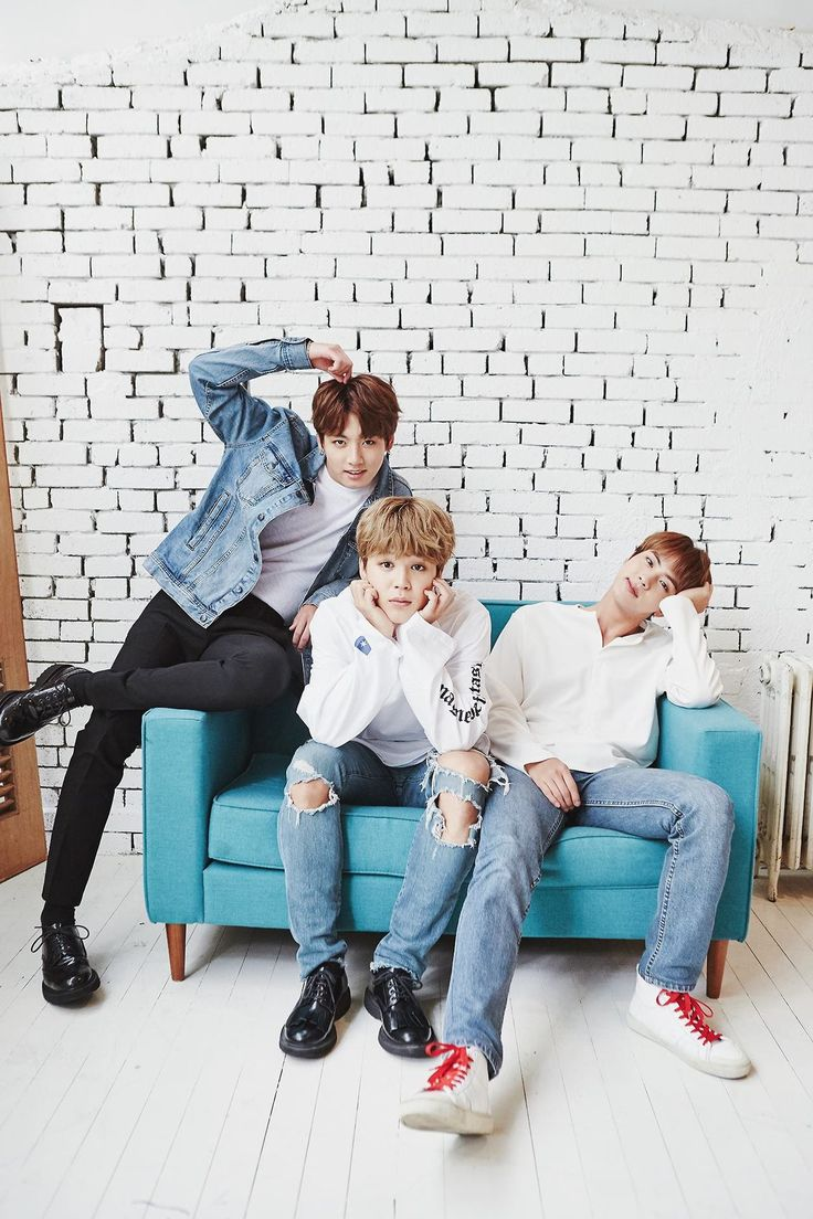 Jimin is all wide eyed and innocent looking, but Kookie looks like he's trying to woo the camera.