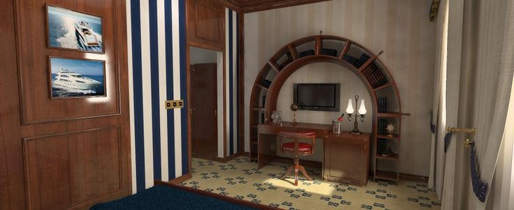 Hotel Hobby Club-room interior design rendering