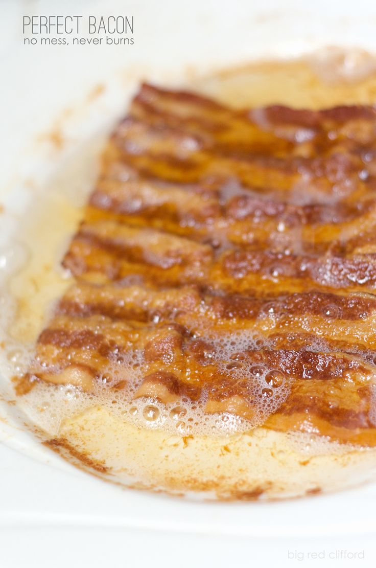the perfect crispy bacon. never burn. no mess! | bigredclifford.com