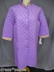 Quilted nylon dressing gowns from Brentford Nylons ... used to 'spark' when you went to bed! 3 of us had these in blue