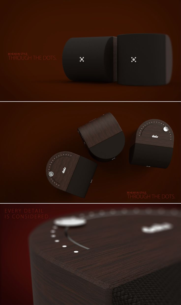Dots. Portable Speaker - Product Design   |  https://www.behance.net/rasam