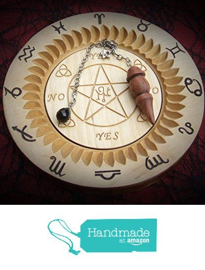 Pendulum Divination Board with Pendulum. from A Burning Ambition https://www.amazon.co.uk/dp/B0722QVPNV/ref=hnd_sw_r_pi_dp_Y-0gzbRWY4SP0 #handmadeatamazon