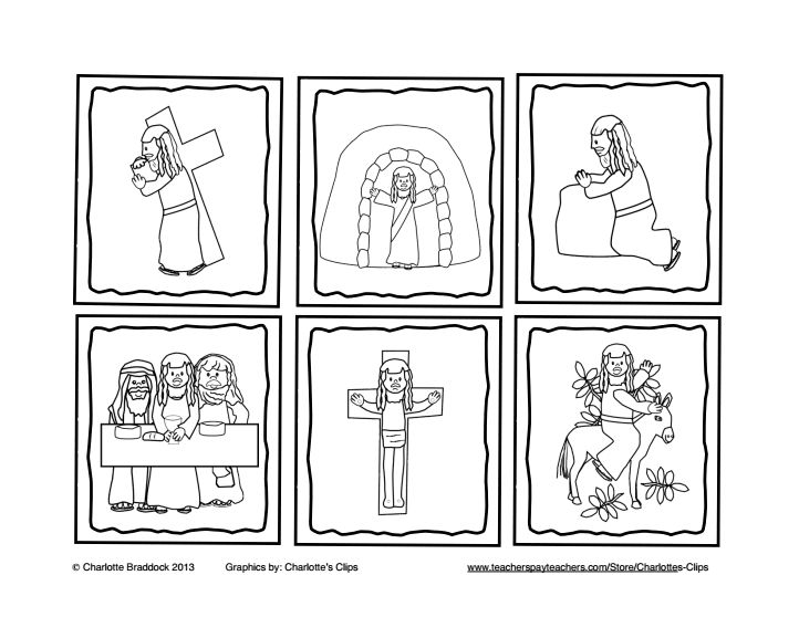 Sequencing easter google drive gospels for Easter story coloring pages for preschoolers