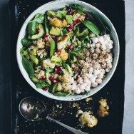Cauliflower za'atar salad - substituted lentils for the chickpeas