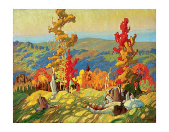 Autumn in the Northland. Franklin Carmichael - Group of Seven.