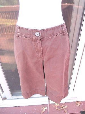 Womans Brown Shorts Size 4 Cabi Flat Front Pockets