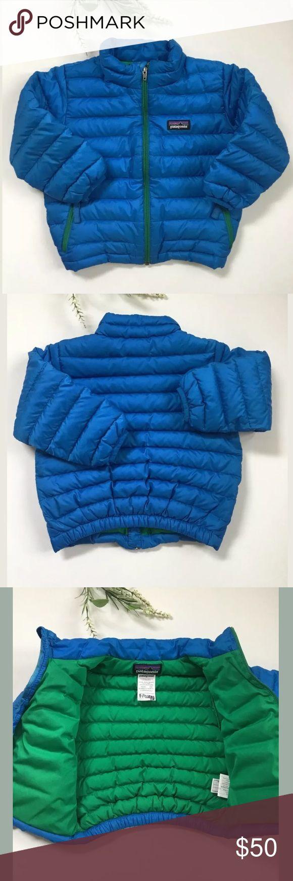 Patagonia Baby Kids Boys Puffer Blue Down Jacket Patagonia