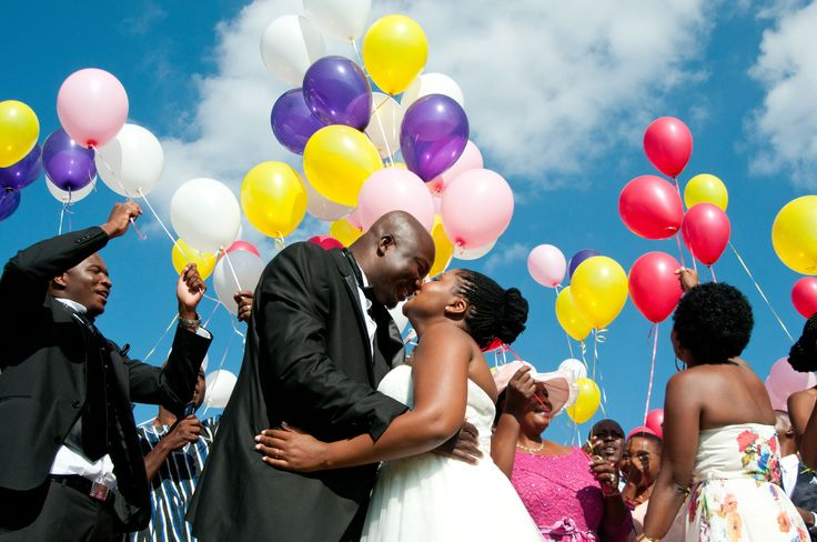Instead of releasing doves..use balloons