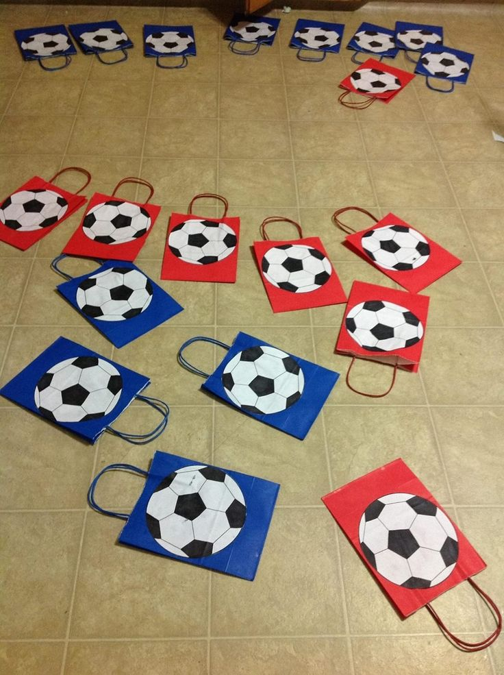 Soccer goody bags for my kids and me Pinterest
