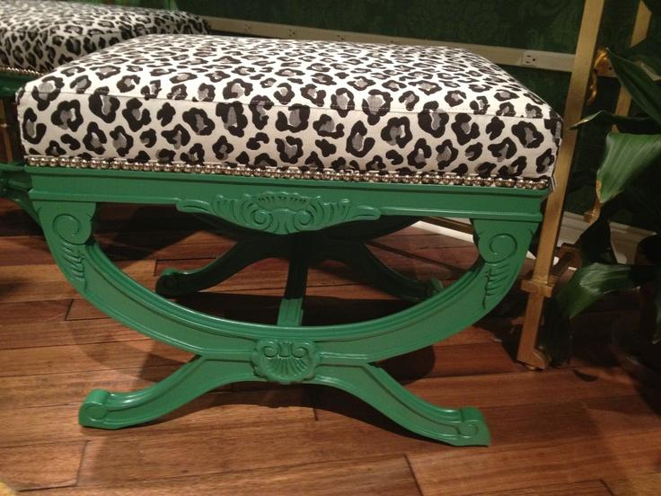 via @Gretchen Aubuchon  @Currey & Company ~ Love green and leopard! #hpmkt #stylespotter