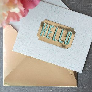 Oscar-Worthy Pure Gold DIY Envelope | All that glitters is gold and these DIY envelopes are no exception.