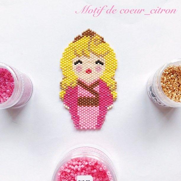 Princesa Aurora cuentas peyote Stitch