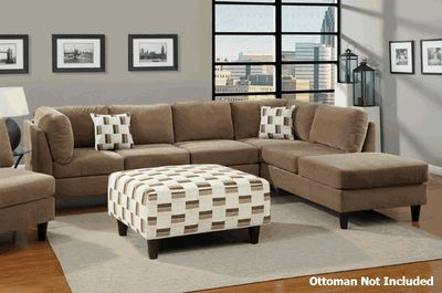 GREAT website for inexpensive sectionals! - Elsa Reversible Tan Sectional Sofa    Just for an idea.