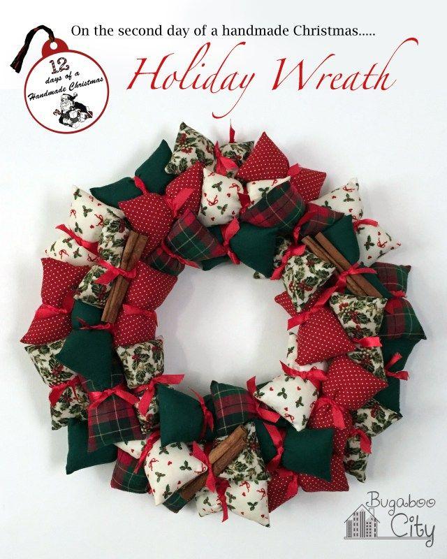 Holiday Pillow Wreath - BugabooCity
