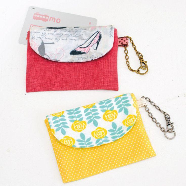 少しの布で簡単に手作り!プリント生地がかわいいIC用のパスケースの作り方(布小物)   ぬくもり
