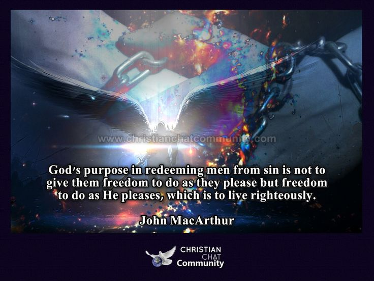 Freedom To Live Righteously - John MacArthur - Christian Chat Community