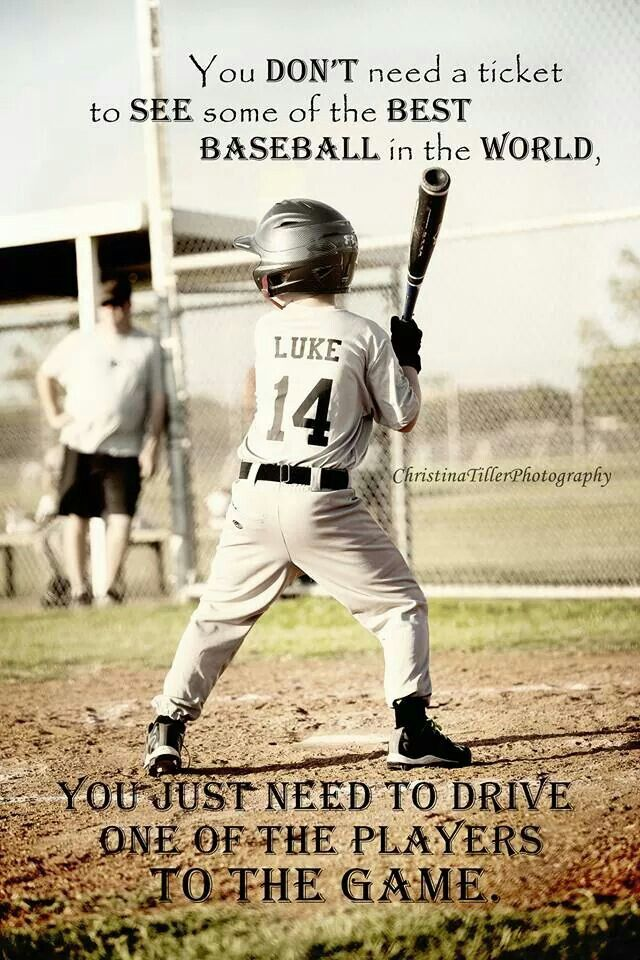 Love this! And the quote is 100% true. My favorite games to watch are that of my children. Little League baseball