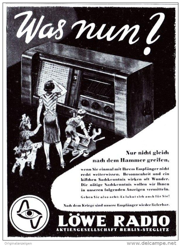 Original-Werbung/ Anzeige 1942 - LÖWE RADIO - ca. 100 x 140 mm
