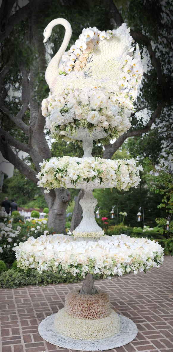 An incredible escort card table from the always-fabulous Preston Bailey.