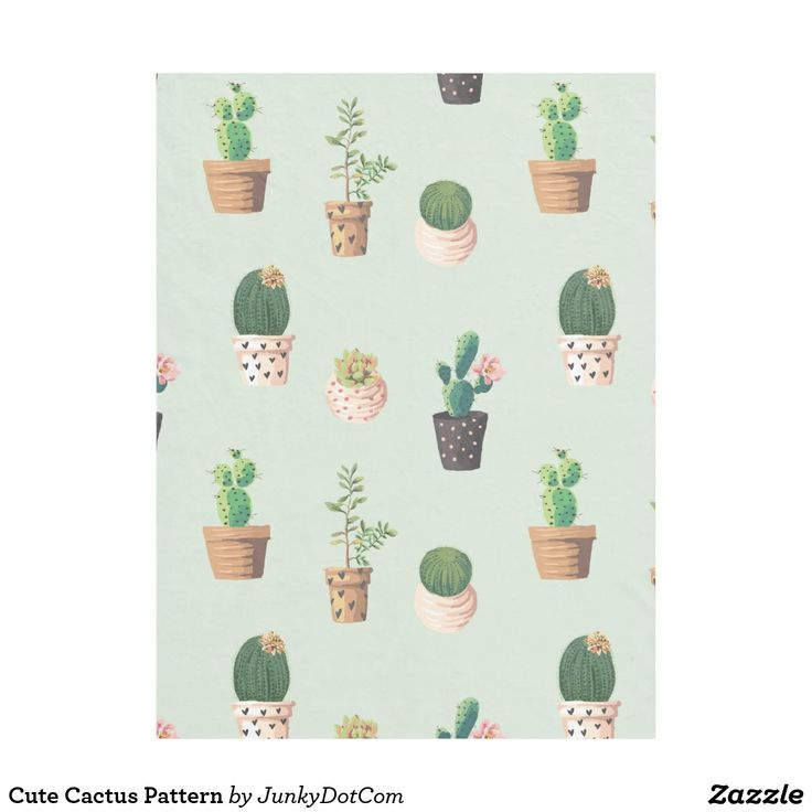 Cute Cactus Pattern Fleece Blanket | Zazzle.com