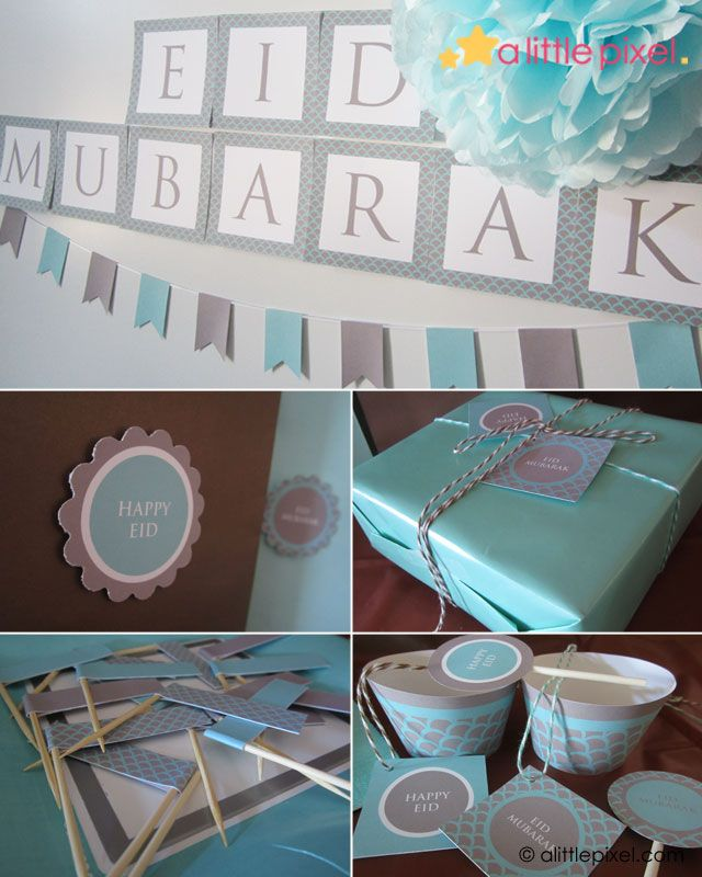 Eid Mubarak Party Printable Theme.
