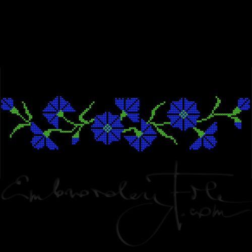 Cornflowers in cross stitch II A