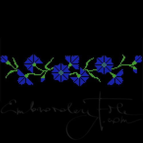 Cornflowers in cross stitch II A