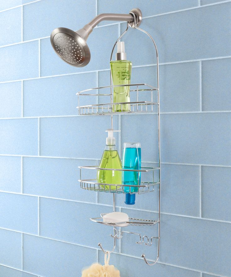 Chrome Three-Tier Hanging Shower Caddy