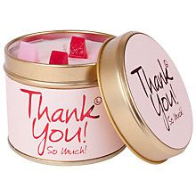 Buy Lily-Flame Thank You! Scented Candle Tin Online at johnlewis.com