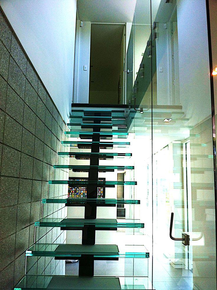 glass stairwell