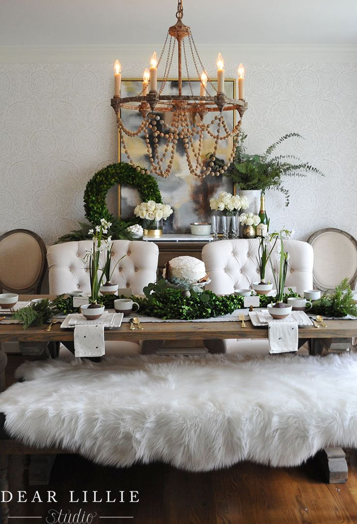 Seasons of Home - Christmas Dining Room - Dear Lillie Studio  Holiday  TablescapeThanksgiving TablescapesChristmas FloridaChristmas ...