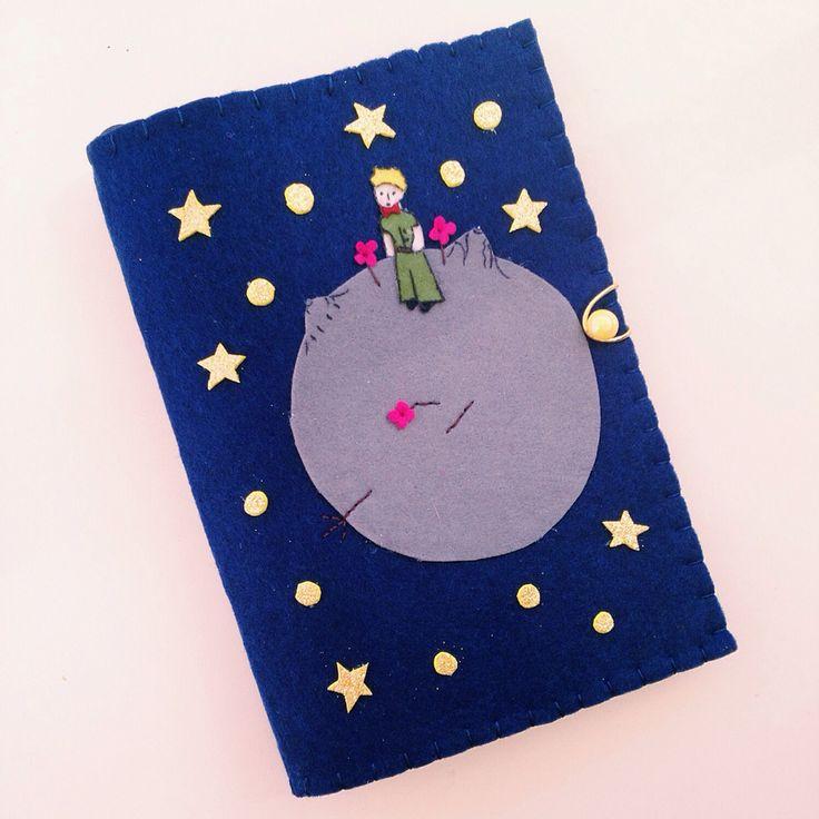 Keçe Kitap Kılıfı : Felt Book Case Little Prince / Küçük Prens