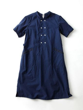 MHL. INDIGO SHIRTING | Shirt Dress | Blue | Casual