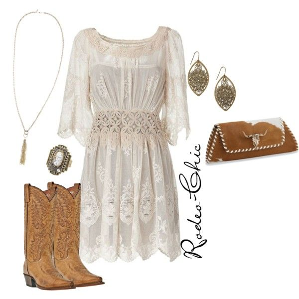 Untitled #23 by rodeo-chic on Polyvore featuring Dan Post, Jeffrey Campbell, Moritz Glik, Jigsaw, Alberta Ferretti, bohemian, lace dresses, animal print, cowboy boots and peasant