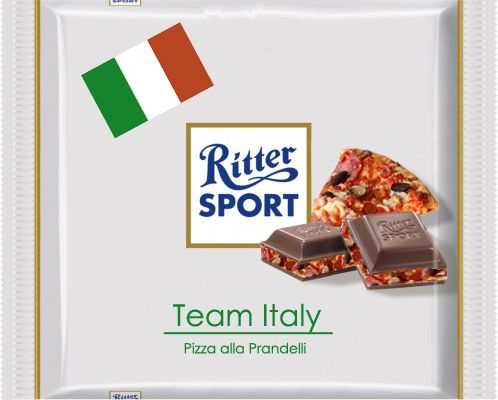 RITTER SPORT Fake Schokolade Team Italy