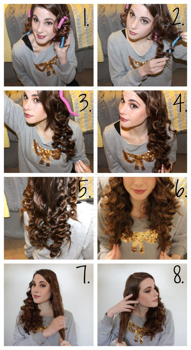 how to curl your hair without heat overnight - Google Search